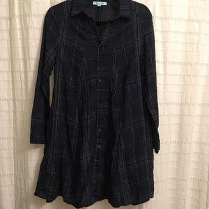 ⭐️She + Sky Dark Blue Plaid Dress/Tunic⭐️